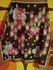 Vintage Retro Pinup Head Scarf 70s Psychedelic Greens Pinks
