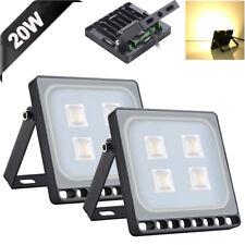 2X 20W Slim Super Power LED Flood Light Warm White Indoor Outdoor Security