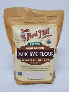Bob's Red Mill Dark Rye Flour Stone Ground Whole Grain Non GMO 20oz 567g NEW