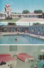 Muskogee Ok El Rancho Motel Postcard 1950s