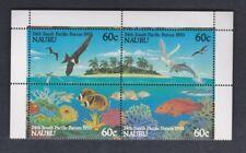 1993 Nauru Bids / Fish SG 410/13 MUH Set 4 Block 4