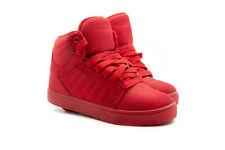 Heelys Youth Boys Skate Wheels Shoes Hi-top Sneakers Canvas Red Sz 3