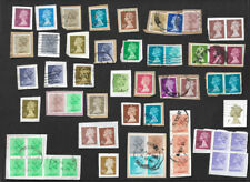 Great Britain used machin definitive stamp selection on paper - 300 stamps