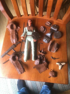 """Vintage Marx Geronimo Indian Action Figure 12"""" with tons of accessories."""