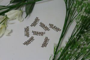 Personalised MR & MRS 50PC Wedding Glitter Confetti Table Decorations Rose Gold