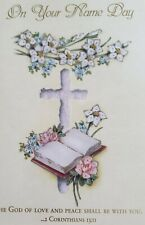 'On Your Name Day w 2 Corinthians 13:11' Ministry Appreciation greeting card