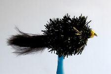 10 x Mouche de peche Streamer Blob Noir BILLE H10 mosca fly tying truite