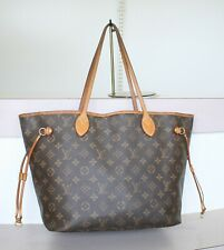 AUTHENTIC LOUIS VUITTON NEVERFULL MM Monogram Tote Bag No.1199