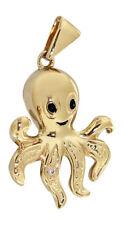 Octopus Anhänger Gold 585 mit Brillant Goldanhänger Krake Kettenanhänger