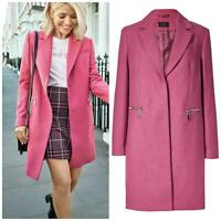 Marks and Spencer Ladies Size 20 M&S Pink Wool Blend Coat Womens