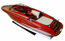 "Rivarama 35"" Handmade Wooden Speed boat Model Brand New"