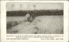 Farming Tractor Agriculture Coe-Mortimer Co New York City c1910 Postcard