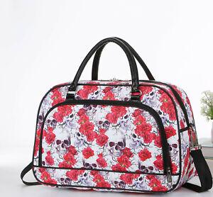 Printed Medium Size Ladies Shoulder Holdall Bags Women Travel Weekend Handbag
