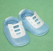 Trumpette Too Baby Shoes Sneakers Blue White Play Tennis Shoes NIB
