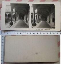 Stereofoto Firenze Chiesa di S. Marco - Chiostro - primi '900