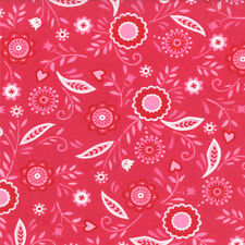 Moda Surrounded by Love Deb Strain Pink Hearts Flowers Girls Fabric Fat Quarter