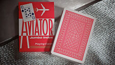 Aviator Deck - Red - Jumbo Index - Playing Cards - Poker Size - Magic Tricks
