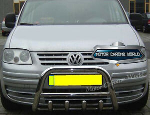 FITS VOLKSWAGEN VW CADDY BULL BAR CHROME AXLE NUDGE A-BAR 2004-2009 S.STEEL NEW