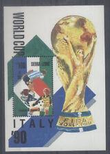 FOOTBALL Sierra Léone 1 bloc 1 de 1989