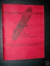 Rare & Endangered Birds-Southern Nation Forest- Dept of Agriculture Vintage Book