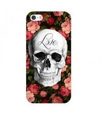 Coque Iphone 6 PLUS tete de mort love fleur liberty skull