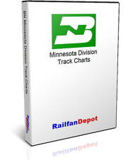 Burlington Northern Minnesota Division Track Chart - PDF on CD - RailfanDepot