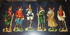Lotto di 6 antichi soldatini di carta collezionismo cartaceo