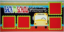 Scrapbook Page Kit Back To School Boy Girl School Bus PKEmporium 140