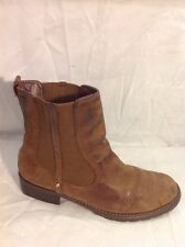 Clarks Brown Ankle Leather Boots Size 5.5D