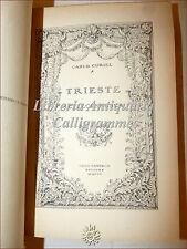 Carlo Curiel, TRIESTE SETTECENTESCA 1922 Remo Sandron con Tavole fuori testo