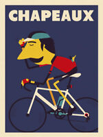 Chapeaux by Spencer Wilson Art Print Poster Hat Bike Cycle Cycling 26x34