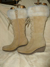 LADIES NEXT FAUX SHEEPSKIN RUSSIAN STYLE  SNOW BOOTS UK 5