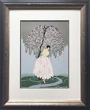 """Erte """"Blossom Umbrella"""" Newly CUSTOM FRAMED Print Art Deco Design Classic Decor"""