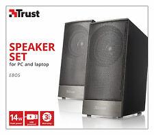 TRUST EBOS 14W PEAK 7W RMS 2.0 USB POWERED SPEAKER SET FOR PC, LAPTOP, ETC.