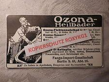 alte Werbung Reklame Anzeige Ozona-Heilbäder Heilbad Fango Berlin von 1913