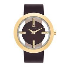 Rhodenwald Söhne Armband-Uhr Damen Lucrezia gold Echtleder Armbanduhren Damen