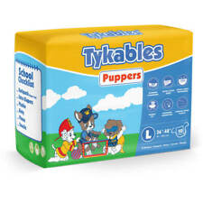 Tykables Puppers - Size 2 (Large) - Pack of 10 - ABDL Adult Diaper