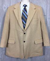 Bespoke Zino Mens Tan Camel Hair Blazer Sportcoat Sz 48R Single Vent (t1)