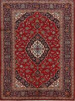 Excellent Vintage Traditional Floral Ardakan Area Rug Hand-Knotted Red Wool 7x10