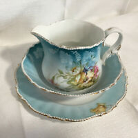 Vintage China creamer with saucer and fruit dish