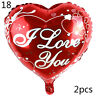 2pcs  I LOVE YOU Foil Balloon Valentine's Day Wedding Decorations Party Balloons
