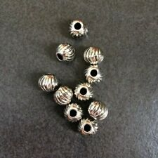 10 x Antique Silver Metal Beads 10mm (hole 3mm)