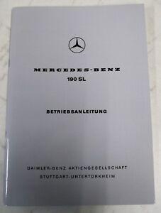 Original Betriebsanleitung Mercedes-Benz W121 190SL Stand 1968