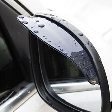 2x Car Rear View Wing Mirrors Black Sun Visor Shield Rain Board Eyebrow Guard