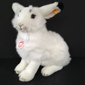Steiff Studio Arctic Hare 501203 Rabbit Bunny White Plush Fur 16 Inches NEW