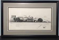 Mario Andretti SIGNED FORMULA 1 Art Print by MICHAEL SAVAGE Race Car INDY 95 COA