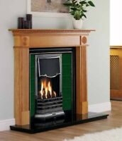 Woodthorpe Antique Pine Finish Fire Surround Fireplace Mantle Gas or Electric
