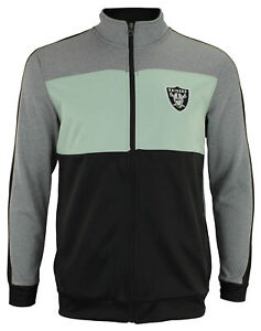 OuterStuff NFL Youth Boys Performance Full Zip Stripe Jacket , Oakland Raiders