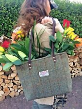 Harris tweed bag purse womens gift gift for her scottish tartan tote