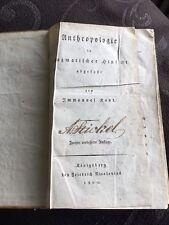 Immanuel Kant Anthropologie in pragmatischer Hinsicht abgefaßt Königsberg 1800